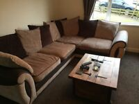 Immaculate Condition DFS Corner Sofa, Swivel Chair & Footstool! Buy Together Or Separate. £700 ONO