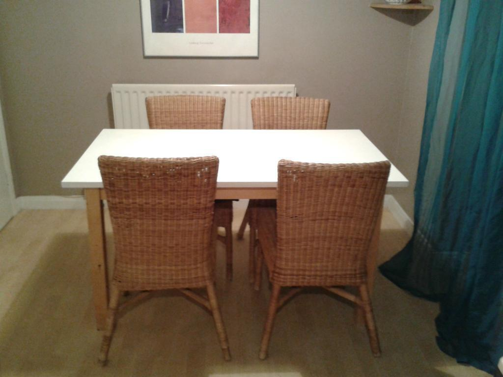 white and wood dining table and chairs united kingdom