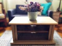 Tv stand, unit, table beach finish