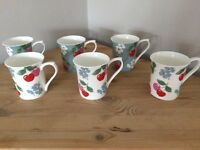 6 Cath Kidston Cherry Mugs