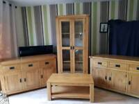 Solid oak furniture set in excellent condition