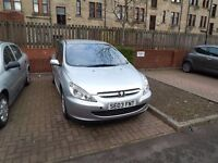 SILVER COLORED PEUGEOT 307S 1.4 IN GREAT CONDITION;TIMING BELT JUST DONE, MOT MAY 2017