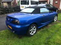 2003 MG MGTF 1.6 115bhp RACE/SPRINT BLUE. Spares or repairs. EXCELLENT ENGINE, WHEELS etc. Project