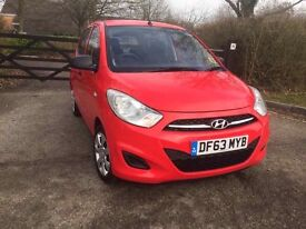 I10 HYUNDAI RED 2014 CAT C ONE YEAR MOT LOW MILES 5000 IMMACULATE CONDITION