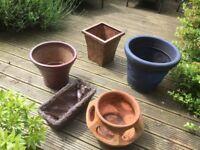Plant pots x 5