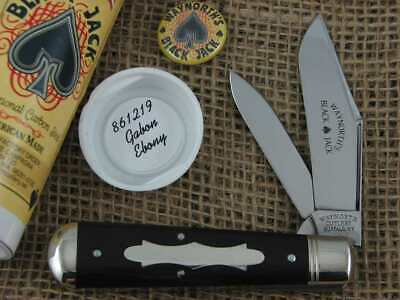 Great Eastern Cutlery Waynorth Cutlery SFO #861219 Gabon Ebony Blackjack MIB NR