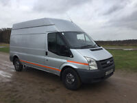 FORD TRANSIT 2.4 TDCI 2010 - LONG WHEEL BASE / HIGH ROOF - 6 SPEED - AVERAGE BODY DRIVES PERFECTLY!!