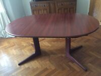 Cherry Wood Extending Dining Table
