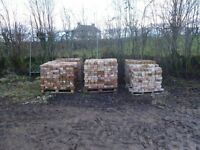 2 pallets red reclaimed bricks. Good clean condition. 400 per pallet.