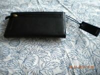 Leather purse, brown