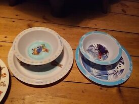 Kids bowl and plate sets