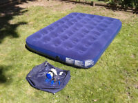 Airbed Camping Mat, Flocked Air Bed, Inflatable Air Mattress, Blow Up Bed FREE DELIVERY