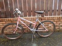 "Girls/ small ladies Raleigh Mountain Bike 16 inch frame with 24"" wheels"