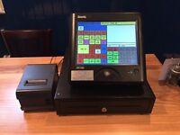 Sam4s touchscreen till system