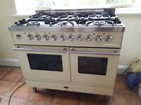 Britannia Range Cooker 100cms 6 Burners Dual Fuel Cream