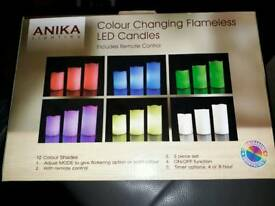 Anika colour changing LED candles