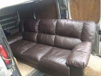 Beautiful 3 Seater Leather Sofa!!! Free transport in Richmond area!