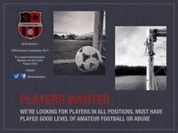 PLAYERS WANTED - Successful Saturday morning amateur football team looking for players