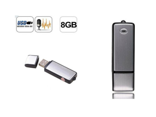 8GB Rechargeable Digital SPY Audio Sound Voice Recorder Mini USB Disk Pen Drive