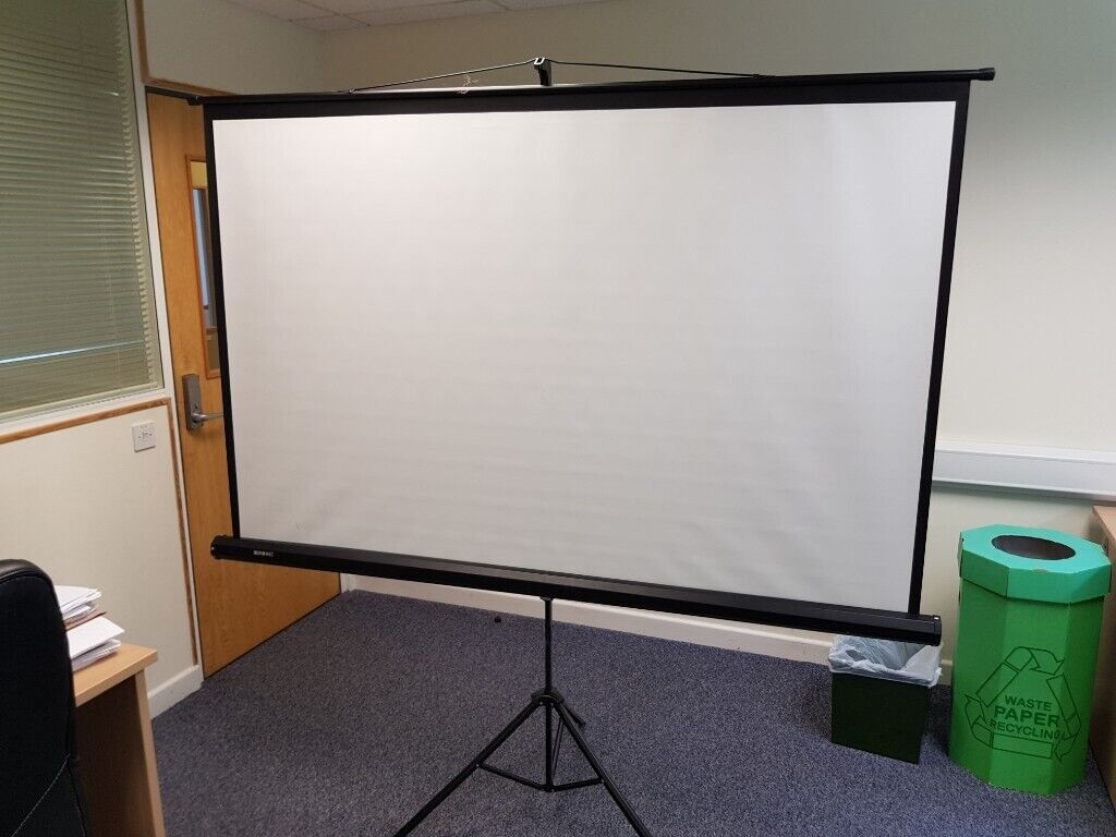 Duronic Projector Screen TPS86/43 (Black) Projection Screen For | School |  Theatre | Cinema | Home | | in Shaftesbury, Dorset | Gumtree