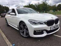 BMW 7 SERIES 3.0 730D MSPORT SALOON 2016 NEW SHAPE WHITE 5 YEAR BMW SERVICE PLAN MASSAGE SEAT