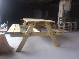 Large solid wood picnic table—payment plans available
