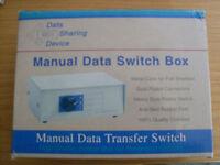 4 way VGA manual data switching box