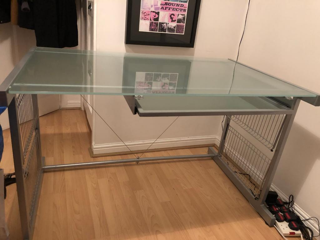 John Lewis Frosted Gl Office Desk