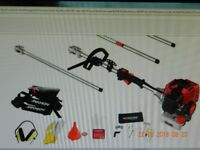 52CC Petrol Multi Function Garden - Hedge Trimmer, , Brush Cutter, Pruner Chainsaw & Extension Pole
