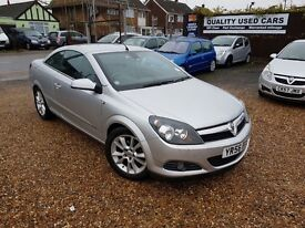 Vauxhall Astra 1.8 i Design Twin Top 2dr, LONG MOT, GENUINE LOW MILEAGE, HPI CLEAR, FULL LEATHER