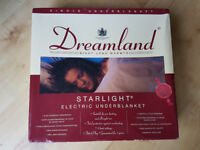 DREAMLAND STARLIGHT SINGLE ELECTRIC BLANKET-NEW