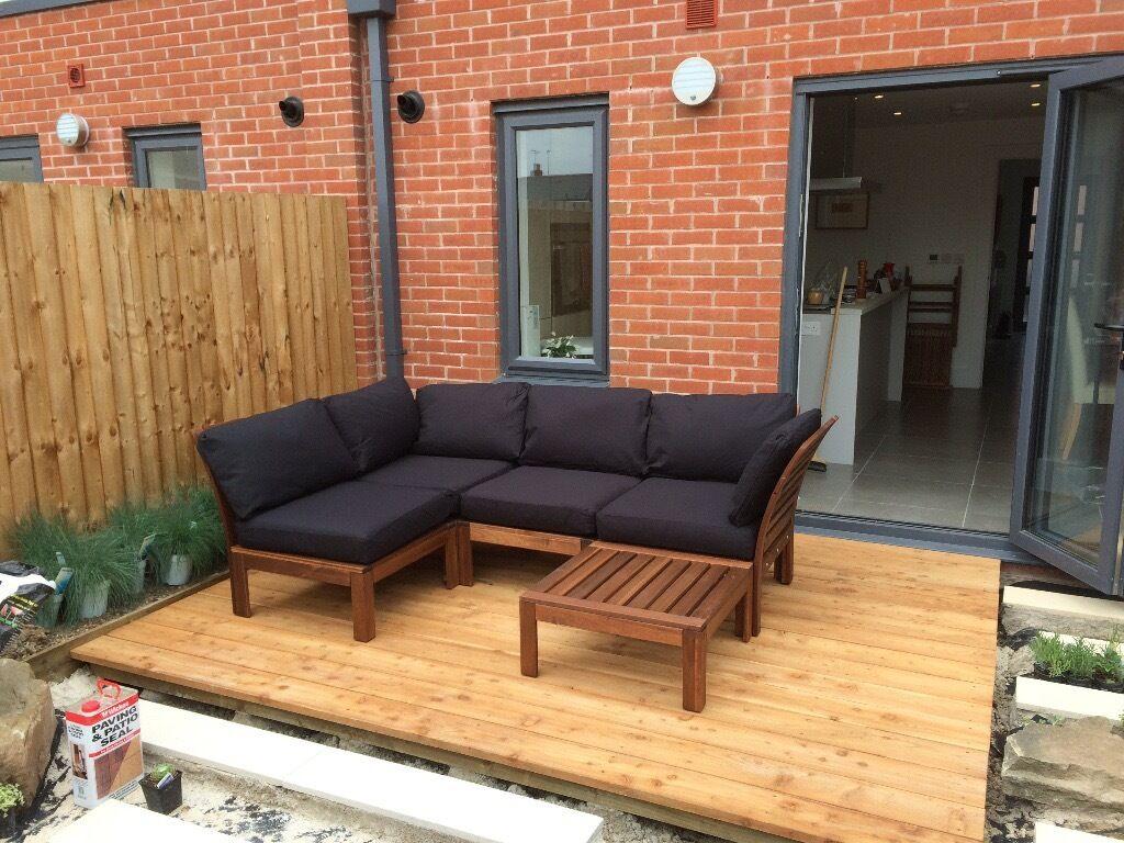 Ikea Applaro Garden Furniture Set With Crank And Tilt