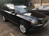 Black Volvo xc90 Diesel 2.4 Automatic, seven seats, black leather .