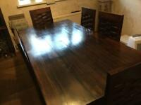 Dining Table and Six Matching Chairs