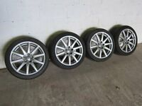 "AUDI GENUINE A4 / TT MK2 18"" 10-SPOKE SPEEDLINE ALLOY WHEELS WITH AVON ZZ5 TYRES"
