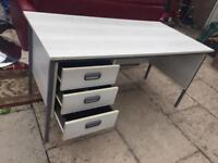 Solid White Wood Office Table - BARGAIN