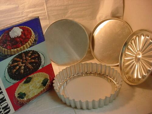 Vtg Wear Ever Quiche Flan Pan Set Boxed