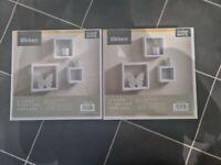 2 x cube floating shelves