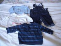 Dungarees, jumper and T-shirt bundle - up to 6 months