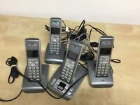 BT recording cordless phone with answer machine 4 handset record system
