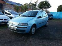 2003 Fiat punto 1.2 petrol , 5 doors , bargain price ,, good condition