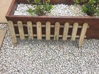 10 x Wickes Timber Picket Fence Style Border Edging