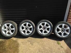 Wolfrace multi stud alloy wheels and Avon zzr tyres