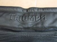Mens Triumph High quality leather Motorcycle trousers size 42 vgc