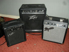 3 guitar/bass amps.