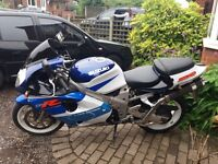 Suzuki tl1000r blue and white. Sports exhaust low mileage fitted alarm. Runs very good