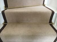 12 Brass Stairway Carpet Rails - Great Condition