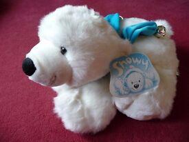 Beautiful white arctic soft bear toy