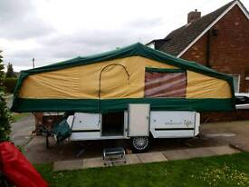 6 birth folding camper with awning