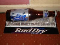 BUDWEISER BUD DRY ADVERTISING PUB SIGN POOL / SNOOKER TABLE LIGHT 110V